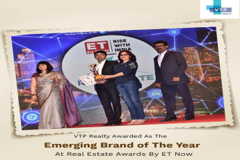 VTP Realty awarded Emerging Brand of the Year at Real Estate Awards 2018 by ET Now