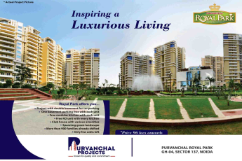 Purvanchal Royal Park is inspiring a luxurious living in Noida