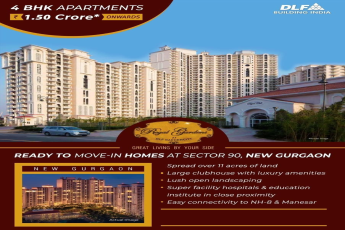 4 BHK Ready to move in homes at 1 5 cr in DLF Regal Gardens New Gurgaon