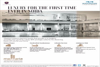 Luxury apartments getting ready for possession at Mahagun Mezzaria in Noida