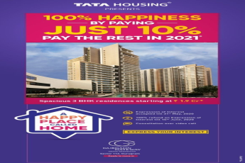 100% happiness by paying just 10% and pay the rest in 2021 at Tata Gurgaon Gateway in Gurgaon