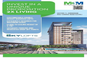 Invest in a unique proposition 2X living at M3M Sky Lofts Gurgaon