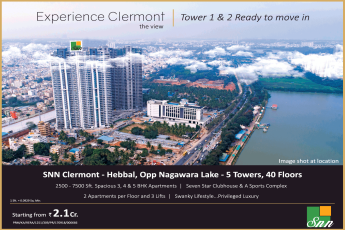 Book ready to move in apartments in tower 1 & 2 at SNN Clermont in Bangalore