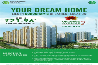 Your dream home lies in Gurugram s dreamiest location at Signature Orchard Avenue 2 in Sector 93 Gurgaon