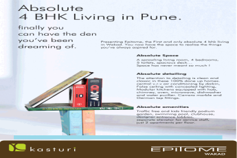 Presenting first absolute 4 bhk living at Kasturi Epitome in Pune