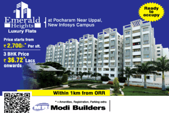 Presenting ready to occupy at Modi Emerald Heights in Hyderabad