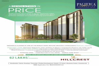 Sample home ready for visit at Pacifica Hillcrest in Hyderabad
