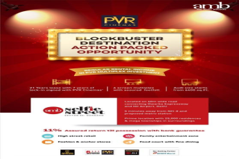 Superlative investment opportunity to become the proud owner of PVR Screen at AMB Selfie Street in Gurgaon