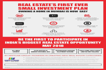Be the first to participate in India's Biggest Real Estate Opportunity in May 2018