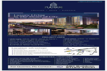 Enjoy luxury living in the heart of the city at Suncity Platinum Towers in Gurgaon