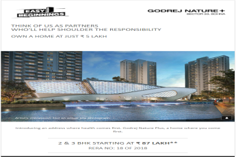 Own a home at just Rs. 5 lakh at Godrej Nature Plus in Gurgaon