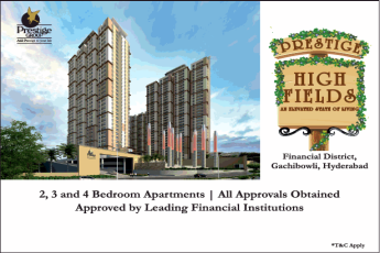Book 2, 3 and 4 bedroom starting Rs 69 lac at Prestige High Fields in Hyderabad