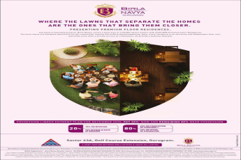 Pay 20 now and rest 80 on possession at Birla Navya in Gurgaon