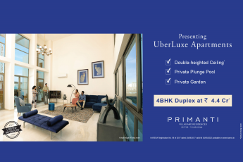 Presenting uber-luxe 4 bhk duplex at Rs. 4.4 Cr. at TATA Primanti in Gurgaon