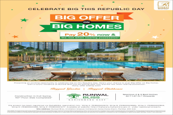 Pay 20% now & the rest when nearing possession at Runwal Bliss, Mumbai