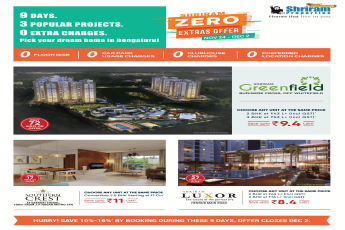 Shriram Zero Extras Offer in Bangalore