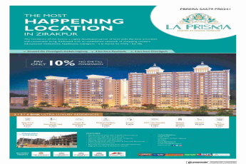 Pay only 10% and no EMI till possession at La Prisma in Chandigarh