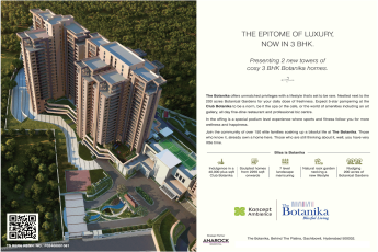 The epitome of luxury, now in 3 BHK at  Botanika Home in Hyderabad