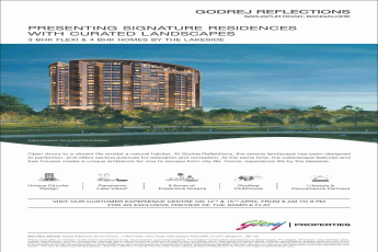 Live in signature residences with curated landscapes at Godrej Reflections in Bangalore