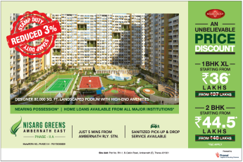 An unbelievable price discount at Nisarg Greens in Mumbai