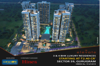 Introducing Elevate by Conscient Developers at Sector 59, Gurugram