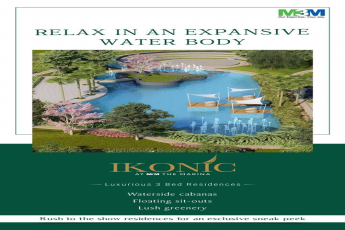 Relax in an expansive water body at M3M Ikonic in Sector 68 Gurgaon