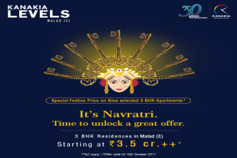 This Navratri Kanakia Group offers Special festive price for 3 BHK apartments at Kanakia Levels, Malad E. Mumbai