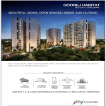 Limited 2, 3 and 4 bed residences starting at Rs 99 Lakh onwards at Godrej Habitat in Gurgaon