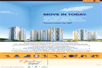 Olympia Opaline Sequel sea-view apartments on main OMR, Navalur, Chennai