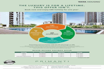 Presenting spacious homes with the 4 P advantage at Tata Primanti in Gurgaon