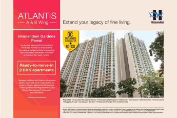 Book ready to move 2 BHK homes at Hiranandani Atlantis in Mumbai