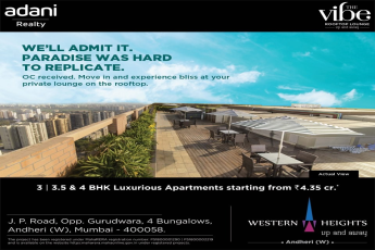 Adani Western Heights offer private lounge on the rooftop in Mumbai