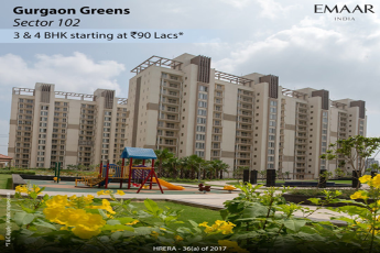 Ready-to-move-in 3 & 4 BHK homes Rs 90 Lacs at Emaar Gurgaon Greens, Gurgaon