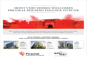 Own exclusive Mont Vert property today with Piramal Housing Finance in Pune
