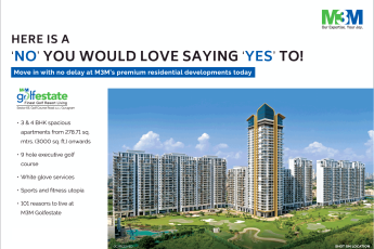 Move in with no delay at M3M Golf Estate premium residential developments today in Gurgaon