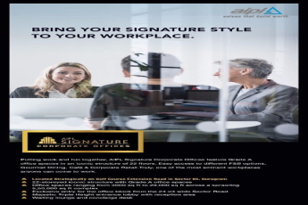Bring your signature style to your workplace at AIPL Signature in Gurgaon