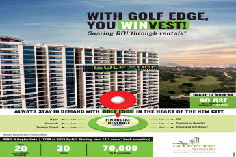Buy a 3 BHK and save a minimum of Rs. 13.4 Lakhs at Phoenix Golf Edge in Hyderabad
