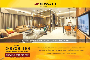 Show flat is now open for visit at Swati Chrysantha in Shela, Ahmedabad