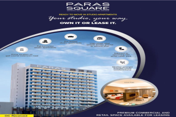 Paras Square Ready to move in fully furnished Studio Apartments in Gurgaon