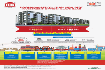KG Centre Point special offer price just Rs 2699 Sqft  in Chennai