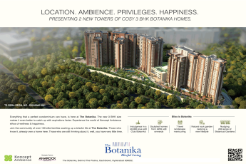 Presenting 2 new towers of cosy 3 BHK Botanika homes in Hyderabad
