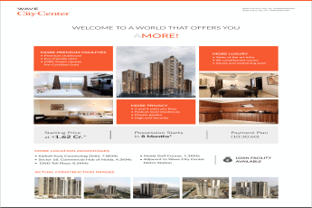 Book 2/3/4 bedrooms at Rs 1.62 Cr. at Wave City Center Amore in Noida