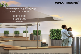 Open air lounge at Tata Rio De Goa in Dabolim, Goa