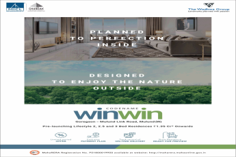 Pre launching lifestyle 2 2 5 and 3 bed residences Rs 1 35 Cr at Wadhwa Codename Win Win Mumbai