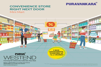 Convenience store right next door at Purva Westend in Bangalore