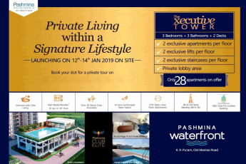 Experience private living within a signature lifestyle at Pashmina Waterfront in Bangalore