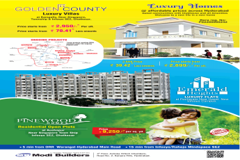 Modi Golden County luxury villas price starts Rs 2,950 per sft in Hyderabad
