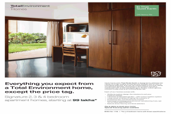 Pay Rs.5 lakhs to book your homes at Total Environment That Quiet Earth in Bangalore