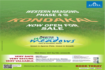 Now open for sale at Aparna Western Meadows Hyderabad