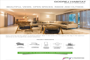 Beautiful views, open spaces, inside and outside at  at Godrej Habitat in Gurgaon